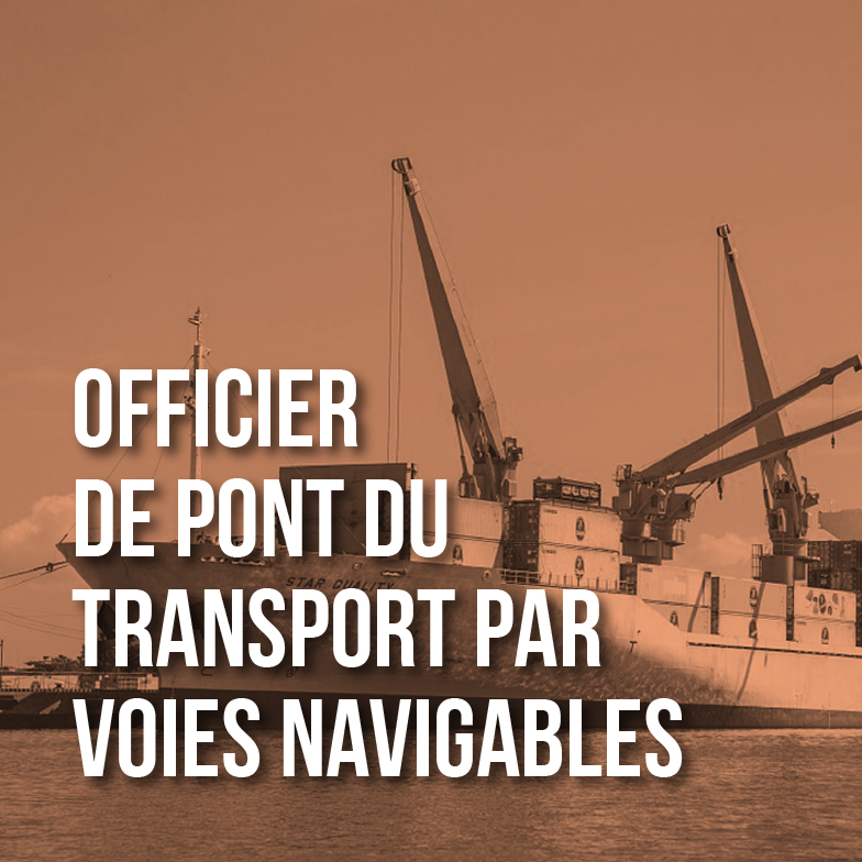 Officiers de pont du transport par voies navigables